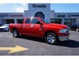 2014 Flame Red Ram 1500 SLT Quad Cab #102378764