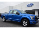 2015 Blue Flame Metallic Ford F150 XLT SuperCab #102439187