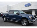 2015 Blue Jeans Metallic Ford F150 XLT SuperCrew 4x4 #102439186