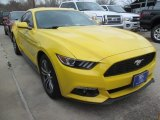 2015 Triple Yellow Tricoat Ford Mustang EcoBoost Premium Coupe #102469529