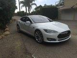 White Tesla Model S in 2013