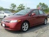 2007 Tango Red Pearl Honda Civic EX Sedan #10259316