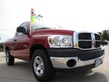 2008 Inferno Red Crystal Pearl Dodge Ram 1500 SXT Regular Cab #10247497