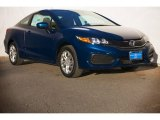 2015 Dyno Blue Pearl Honda Civic LX Coupe #102637505