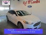 2015 White Platinum Metallic Ford Fusion Titanium #102665023
