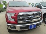 2015 Ruby Red Metallic Ford F150 Lariat SuperCrew 4x4 #102692318