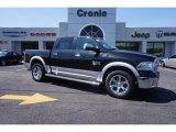 2015 Brilliant Black Crystal Pearl Ram 1500 Laramie Crew Cab 4x4 #102692499