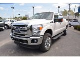 2015 Oxford White Ford F250 Super Duty Lariat Crew Cab 4x4 #102761341