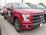 2015 Ruby Red Metallic Ford F150 Lariat SuperCrew 4x4 #102761087