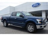 2015 Blue Jeans Metallic Ford F150 XLT SuperCab 4x4 #102761233