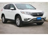 2015 White Diamond Pearl Honda CR-V EX AWD #102845345