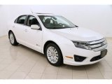 2010 White Platinum Tri-coat Metallic Ford Fusion Hybrid #102845559