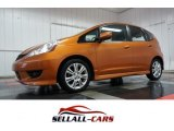 2011 Orange Revolution Metallic Honda Fit Sport #102845095