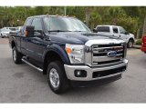 2012 Dark Blue Pearl Metallic Ford F250 Super Duty XLT SuperCab 4x4 #102845483