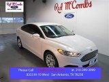 2015 White Platinum Metallic Ford Fusion SE #102884364