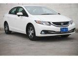 2015 White Orchid Pearl Honda Civic Hybrid-L Sedan #102966280