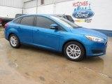 2015 Blue Candy Metallic Ford Focus SE Sedan #103000970