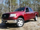 2006 Dark Toreador Red Metallic Ford F150 XLT SuperCrew 4x4 #103001098