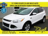 2013 Oxford White Ford Escape SE 2.0L EcoBoost #103082446