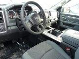 2015 Ram 1500 Big Horn Crew Cab 4x4 Black/Diesel Gray Interior