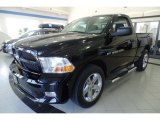 2012 Black Dodge Ram 1500 ST Regular Cab 4x4 #103186167