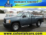 2013 Blue Granite Metallic Chevrolet Silverado 1500 Work Truck Regular Cab 4x4 #103241238