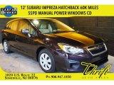 2012 Obsidian Black Pearl Subaru Impreza 2.0i 5 Door #103361786