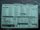 2015 Chevrolet Silverado 1500 LT Regular Cab 4x4 Window Sticker