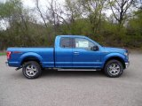 2015 Blue Flame Metallic Ford F150 XLT SuperCab 4x4 #103398323