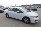 2015 Taffeta White Honda Civic Hybrid Sedan #103460542