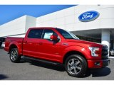 2015 Ruby Red Metallic Ford F150 Lariat SuperCrew 4x4 #103460557