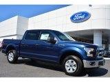 2015 Blue Jeans Metallic Ford F150 XLT SuperCrew #103460555