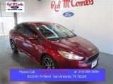 2015 Ruby Red Metallic Ford Focus SE Sedan #103483641