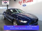 2015 Deep Impact Blue Metallic Ford Mustang EcoBoost Coupe #103483638