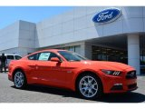 2015 Competition Orange Ford Mustang GT Premium Coupe #103483816