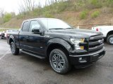 2015 Tuxedo Black Metallic Ford F150 Lariat SuperCab 4x4 #103551722