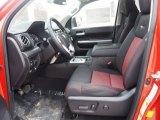 2015 Toyota Tundra TRD Pro CrewMax 4x4 TRD Pro Black/Red Interior