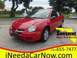 2003 Flame Red Dodge Neon SE #103551551