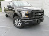 2015 Tuxedo Black Metallic Ford F150 XL SuperCab 4x4 #103586979