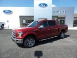 2015 Ruby Red Metallic Ford F150 Lariat SuperCrew 4x4 #103649058