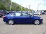 2016 Deep Impact Blue Metallic Ford Fusion Hybrid SE #103653175