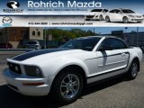 2007 Performance White Ford Mustang V6 Deluxe Convertible #103653170