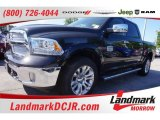 2015 Brilliant Black Crystal Pearl Ram 1500 Laramie Long Horn Crew Cab 4x4 #103716530