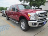 2015 Ruby Red Ford F250 Super Duty XLT Crew Cab 4x4 #103748519