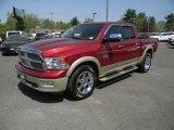 2012 Deep Cherry Red Crystal Pearl Dodge Ram 1500 Laramie Longhorn Crew Cab 4x4 #103748711