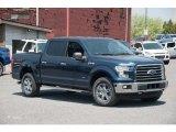 2015 Blue Jeans Metallic Ford F150 XLT SuperCrew 4x4 #103784254