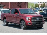 2015 Ruby Red Metallic Ford F150 Lariat SuperCab 4x4 #103784251