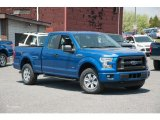 2015 Blue Flame Metallic Ford F150 XL SuperCab 4x4 #103784250
