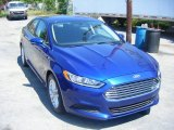 2013 Deep Impact Blue Metallic Ford Fusion SE #103784421