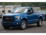 2015 Blue Flame Metallic Ford F150 XL Regular Cab 4x4 #103869145